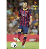 Barcelona FC - A.Iniesta (Action) Poster - 91.5x61cm