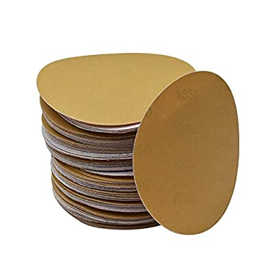 Hook Loop Pads Sanding Disc 5-Inch NO-Hole 100Pcs Aluminum Oxide Round Flocking Sandpaper for Sanding Grinder Polishing Accessories (60 80 120 180 240 320) Grit (240grit)