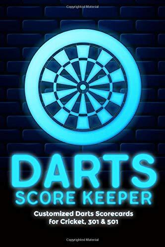 Darts Score Keeper: Customized Darts Scorecards for Cricket, 301 & 501