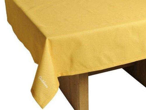 Haga-Wohnideen.de Outdoor tafelkleed St. Tropez geel tuintafelkleed tuintafel tafel kleed afwasbaar 140cmx240cm