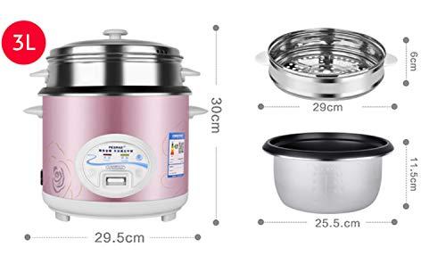 Olla arrocera 2L 3L 4L 5L Mantener la función cálida Calidad Premium Para hasta 15 personas Taza de medición de espátula interna de olla de oro blanco Arroz 3L