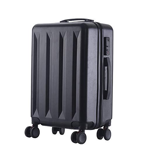 WODENINEK Business Leisure koffer handbagage ABS harde schaal lichtgewicht 4 wielen 20'' 55cm Zwart Unisex