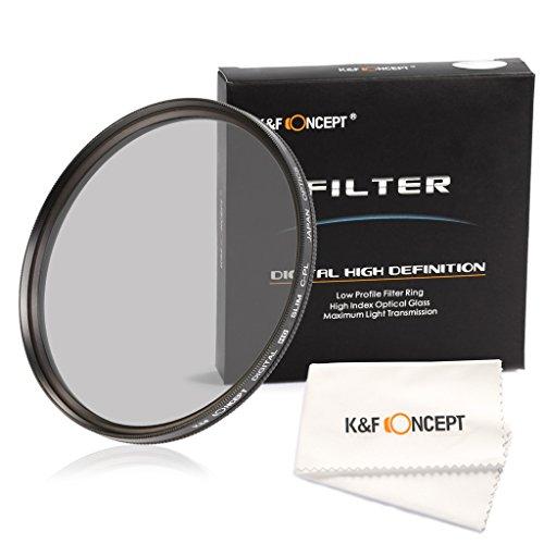 K&F Concept 82mm Ultra Violet Filter Slim Multi Coated CPL Zirkular Polarizing Glas Filter für Nikon Canon Kamera mit Mkrofaser Objektiv Reinigungstuch