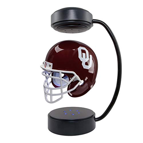 Oklahoma Sooners NCAA Hover Helmet - Collectible Levitating Football Helmet with Electromagnetic Stand