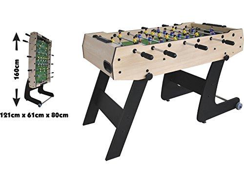 XTURNOS Futbolín Plegable de 121X61X80 cm.: Amazon.es: Juguetes y ...