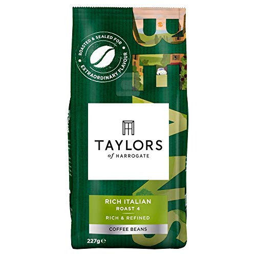 Taylors of Harrogate Rich Italian Coffee Beans, 227 g, Pack of 6