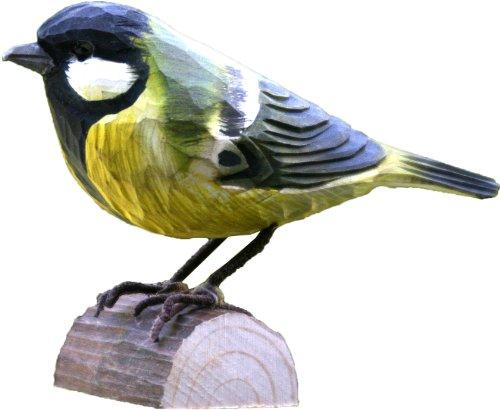 Wildlife Garden Dekovogel - Holzvogel Kohlmeise - handgeschnitzt handbemalt