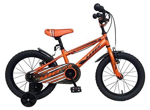 Umit 16 Pulgadas 6 Bicicleta Infantil XT16, Partir de 5 años, Frenos V-Break, Unisex niños, Naranja