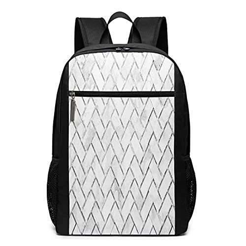 Schulrucksack Graue Ziegelsteinmauer, Schultaschen Teenager Rucksack Schultasche Schulrucksäcke Backpack für Damen Herren Junge Mädchen 15,6 Zoll Notebook