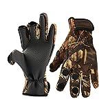 Guantes de pesca con 3 dedos cortados, guantes de pesca, ajustables,...