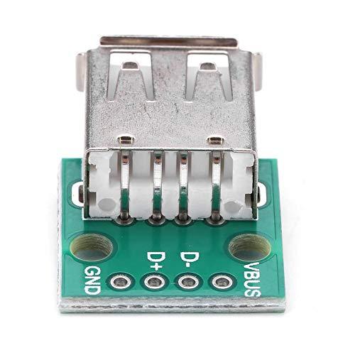 10Pcs Tablero de Conexión USB Hembra USB a DIP 2.54mm Adaptador de paso Conector Tipo A 4 pines Tablero de Conexión USB