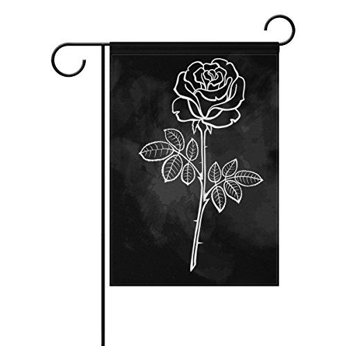 Jstel Home Illustration roses tissu polyester drapeaux de jardin Lovely et résistant aux moisissures personnalisés imperméables de 30,5 x 45,7 cm