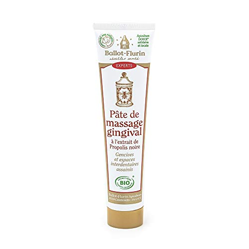 Ballot Flurin - Pâte Massage Gingival - Propolis noire et blanche - Fabriqué en France - Certifié Cosmébio - 75 ml