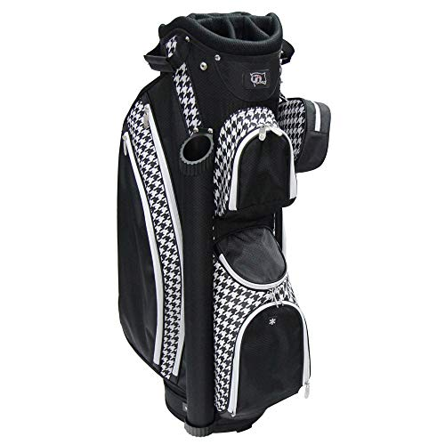 RJ Sports PARADISE 9' Deluxe Ladies Cart Bag, Houndstooth, 9