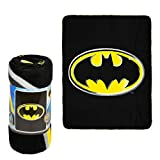 """Justice League Collection Batman Emblem Luxury Plush Blanket with sewn edges Super Soft and made to keep you Cozy and Warm wrapped Fabric Content: 100% Polyester Size: Throw 50"""" x 60"""" Machine wash in cold water, use mild detergent, don't bleach & tum..."""