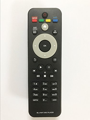 Replacement Remote Controller use for BDP2930 BDP1200 BDP1200/F7 BDP2900/F7 BDP3100 Philips DVD Blu-ray Player