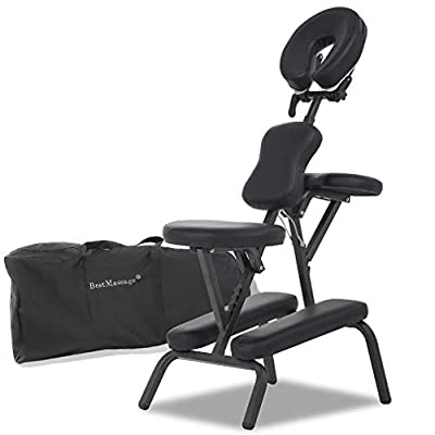 Massage Chair Portable Massage Chairs Tattoo Folding Chairs High-Density Sponge Height Adjustable Face Cradle Light Weight Travel Spa Seat W/Carring Bag