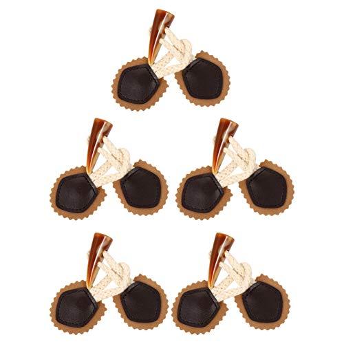 ABOOFAN 5 Pares de Costura de Cierre de Palanca Artesanal Vintage Chaqueta Ropa Cuerno Botón Reemplazo DIY Suministros de Costura para Mujeres Hombres Chocolate