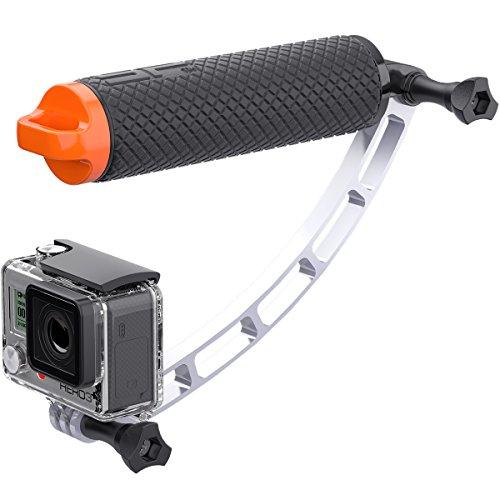 SP-Gadgets POV Extender - Zubehör für Actionkamera (Silber, Aluminium, GoPro: Hero, HERO2, HERO3, HERO3+, HERO4)