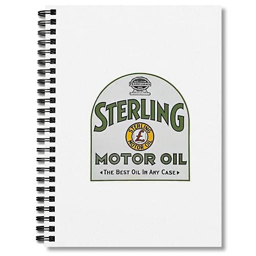 Wide Ruled Spiral Notebook Vintage Journal Sterling Notebooks Motor Notepad Oil Composition - Planner The Journaling Best Oil In Any Case Blank Hand Writing Paper Graph Paper 5x5