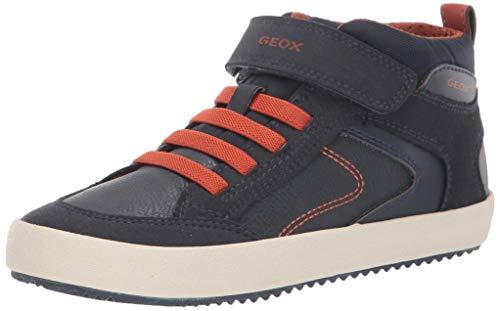 Geox Omar Coffee Blue Boots Geox Kids Shoes Little