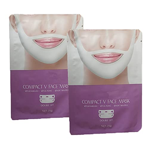 QAZX 7 PCS Lifting Mask, V Line Face Lift Mask Double Chin Reducer,Chin Up Patch Tightening Firming Chin & Neck