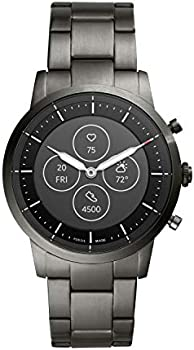 Fossil Men's 42MM Collider HR Heart Rate Stainless Steel Smartwatch