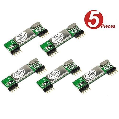 DollaTek 5Pcs RXB6 433Mhz Superheterodyne Wireless Receiver Modul für Arduino/ARM/AVR