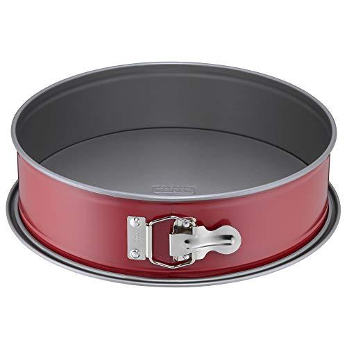 Kaiser Classic Plus Springform 28 cm mit Flachboden, runde Backform, auslaufsicher, antihaftbeschichtet, rot