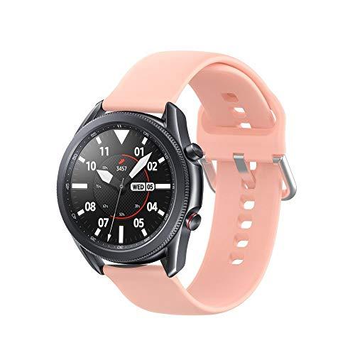 Tech-Protect - Correa de repuesto para Samsung Galaxy Watch 41 mm, iconband compatible con Galaxy Watch 3, correa deportiva de silicona suave, color rosa