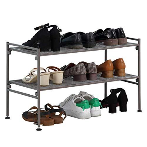 LHQ-HQ Simple Shoe Rack de zapatos, zapatero para dormitorio, puerta de hierro forjado