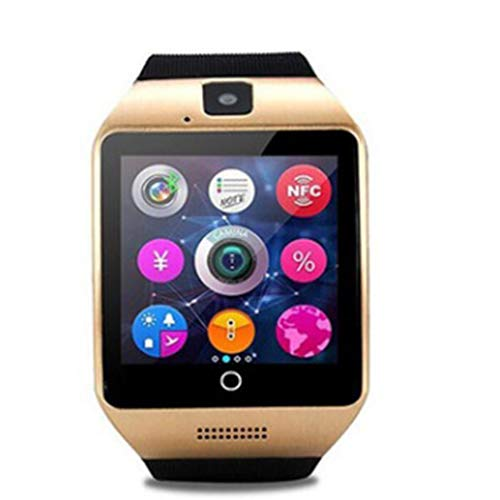Tiowea Unisex Mode multifunctionele ruimte Q18 USB touchscreen smartwatch smartwatch, 1,8 x 2,5 x 4,5 cm, goud