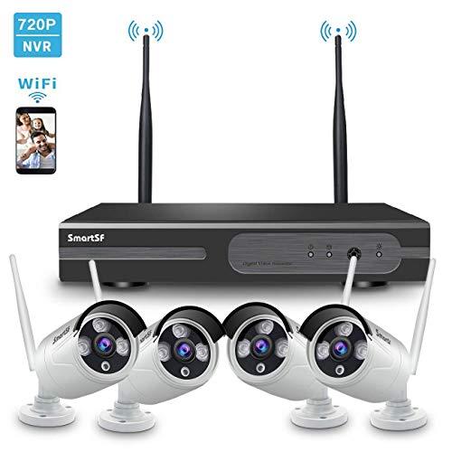 Kit de Seguridad WiFi Vigilancia Inalámbrica Sistema ,1080P 4CH HD NVR kit ,4...