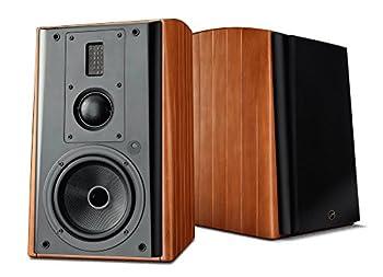 Swans Speakers M3A Active 3-Way Bookshelf Speakers - 6.5 Inch Kevlar Woofer Soft Dome Mid-Range Driver Ribbon Tweeter Wi-Fi/LAN/Bluetooth/Balanced XLR/Optical and Line Input