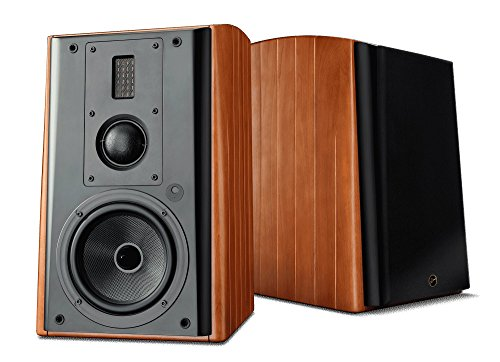 Swans Speakers M3A Active 3-Way Bookshelf Speakers - 6.5 Inch Kevlar Woofer, Soft Dome Mid-Range Driver, Ribbon Tweeter, Wi-Fi/LAN/Bluetooth/Balanced XLR/Optical and Line Input