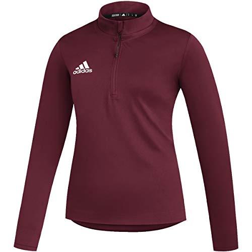 adidas Under The Lights Long Sleeve Top - Women's Multi-Sport L Team Collegiate Burgundy/White