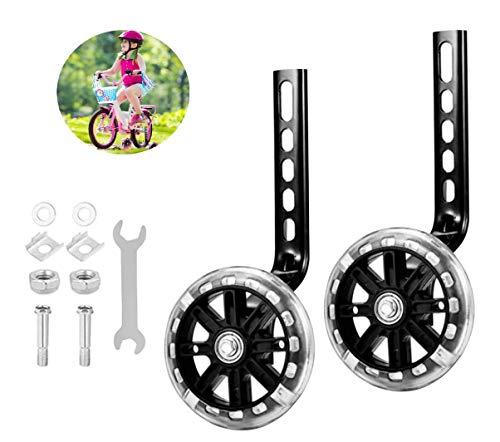 Rotelle Universali per Bicicletta Bambini, Ruote Laterali Bici Bambino, Stabilizzatore rotelle, Rotelle stabilizzatore, Stabilizzatori per Bicicletta. (Nero)
