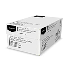8-ream case of 8.5-by-11-inch multipurpose copy paper (4,000 sheets total) High-quality 20-pound weight for economical printing and resistance to paper jams Bright white for better contrast; 92 GE brightness (104 Euro); acid-free to prevent yellowing...