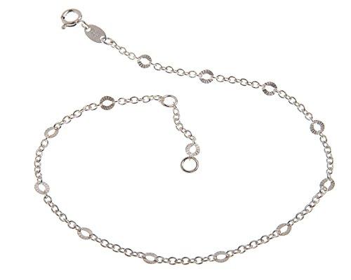 Base collana in argento (collana) con taglio–2mm larghezza–lunghezza a scelta 23–30cm–vero argento 925, argento, cod. 1235