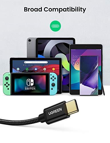UGREEN USB Typ C Kabel 2 Stück USB C Kabel auf USB A USB C Ladekabel kompatibel mit Galaxy S10 S9 S8 A20e Z Flip, Huawei P30 Lite, P20 Lite, HTC U11, Xperia 10 II, LG G6,Xiaomi 5 usw. (2m)