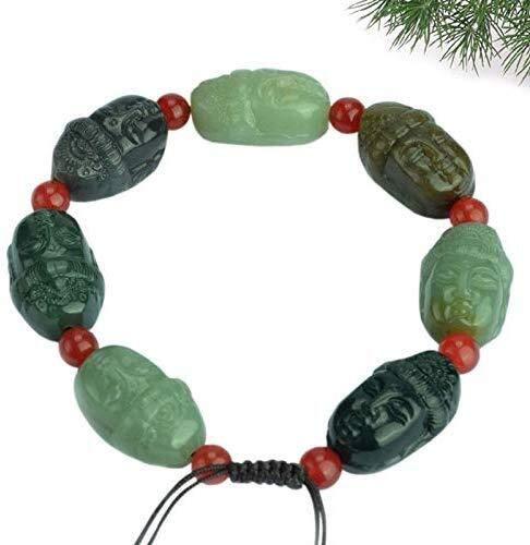Echte Hetian Jade armband mannen Jade kralen armband vrouwen natuurlijke Jade Guanyin hoofd armband