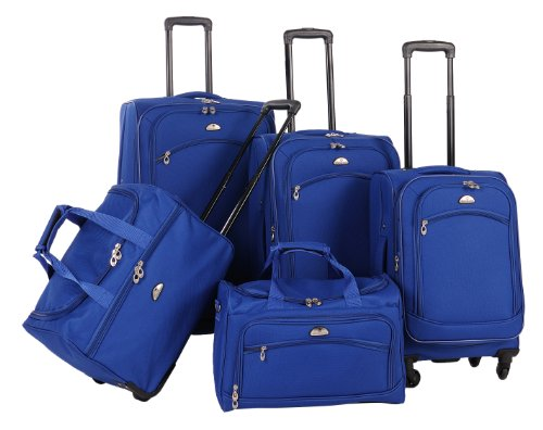 American Flyer Luggage South West Collection 5 Piece Spinner Set, Cobalt Blue, One Size
