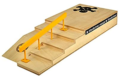 Blackriver Ramps Double Stair Setup yellow
