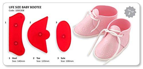 JEM Life Size Baby Bootee Emporte-pièces pour pâte à sucre motif chaussons de bébé