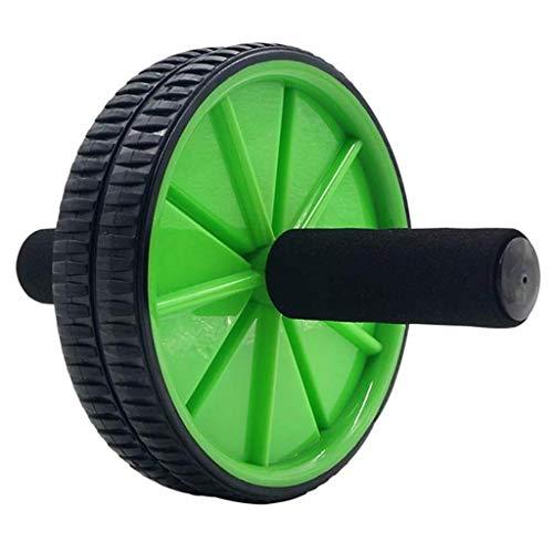 XJJZS Abs Aptitud de Ruedas, aparatos de Ejercicios Abdominales, aleación de Tubos de Acero, Polipropileno, Espuma, al Aire Libre Uso en el hogar (Color : Green)