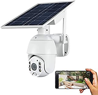 Outdoor Solar Security Camera Wireless 4G 1080P Full HD Rechargeable Battery Powered Motion Sensor Wireless Outdoor CCTV C...