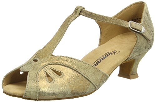 Diamant Damen Tanzschuhe Standard & Latein, Braun (Bronze Magic), 38