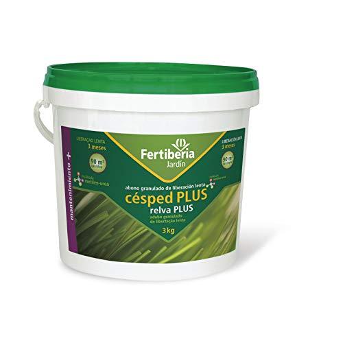 Fertiberia Abono Liberación Lenta Césped Plus Mantenimiento 3 Kg sólidos, Color parduzco