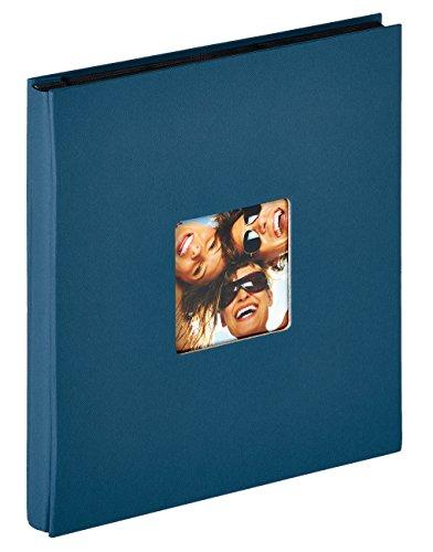 Walther Design Einsteckalbum Fun, Blau, Álbum para conectar la diversión, Cinta estructurada, Azul, 400 Fotos 10x15 cm