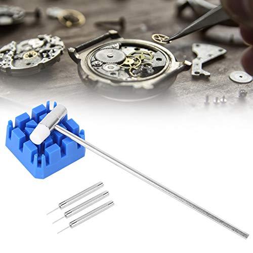 Kit de extracción de relojes, juego de herramientas de reparación de relojes de tamaño compacto portátil de fácil operación, ABS para reparación de relojes, correa de reloj